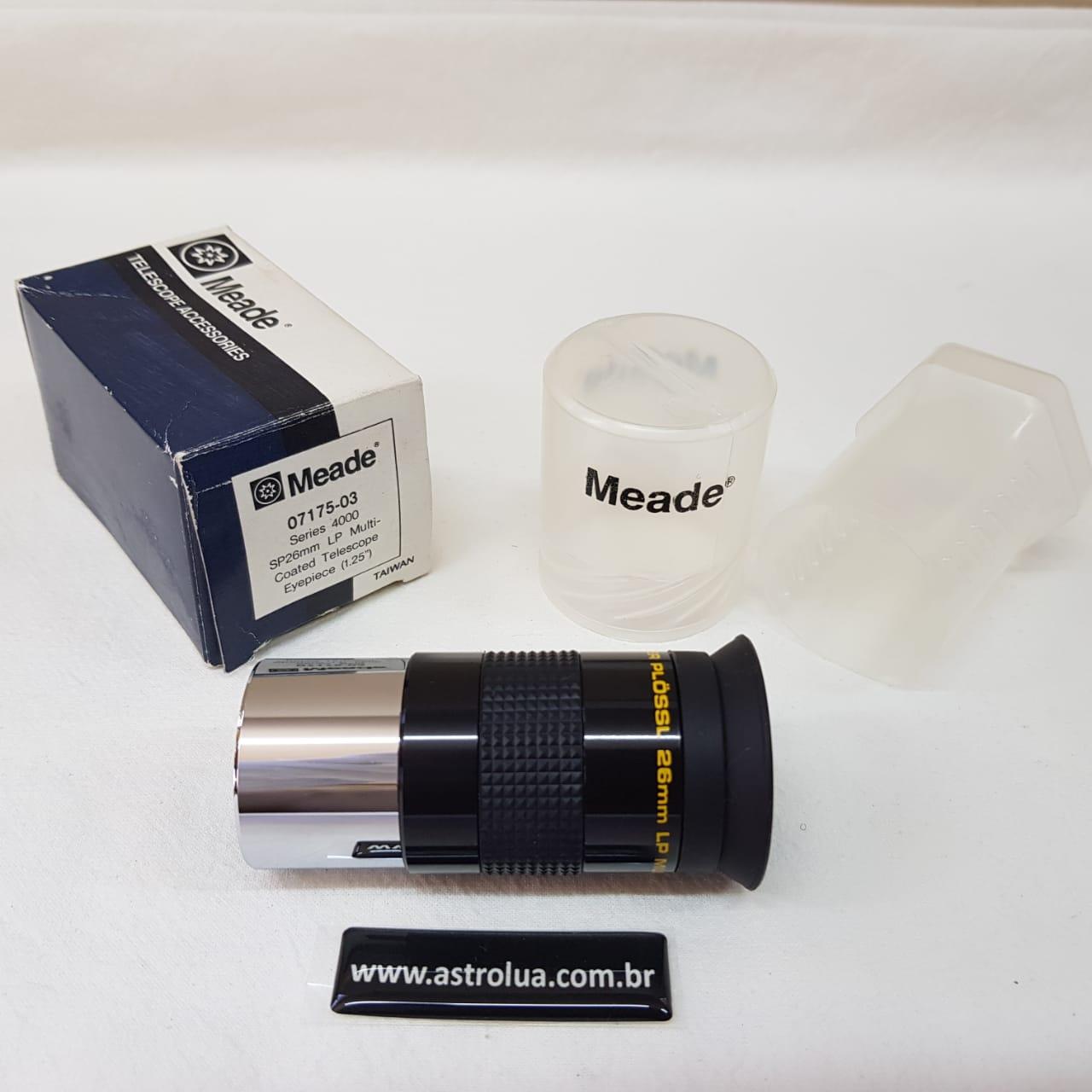 """Ocular 26mm - 1,25"""" Super Plossl LP - Série 4000 - MEADE"""