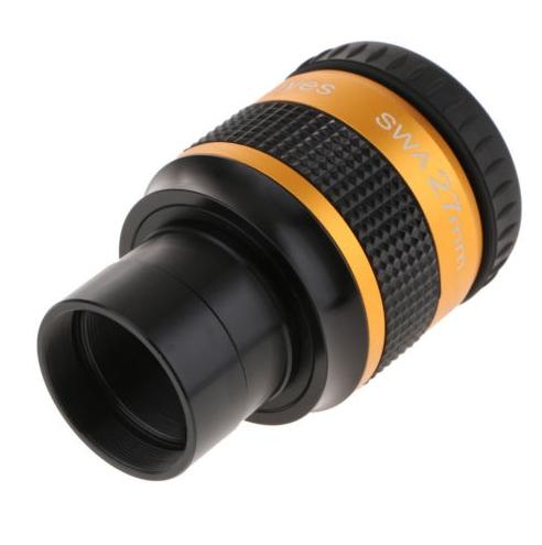 """Ocular 27mm - 1,25"""" Acromática Green Glass - 6 Elementos - 70º de Campo - ANGELEYES"""