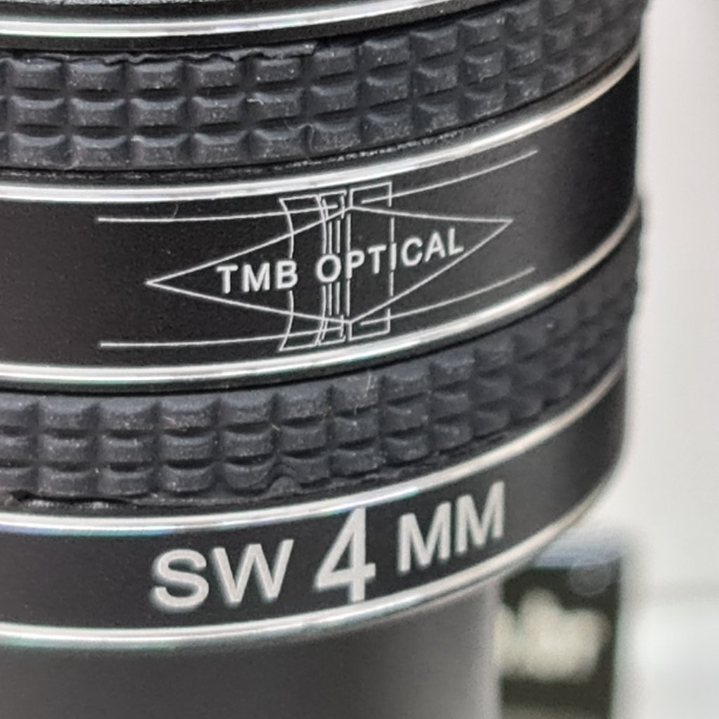 "Ocular 4MM - 1,25"" - 58 Graus Afov - Planetary II - Multi Coated - TMB  (usada)"