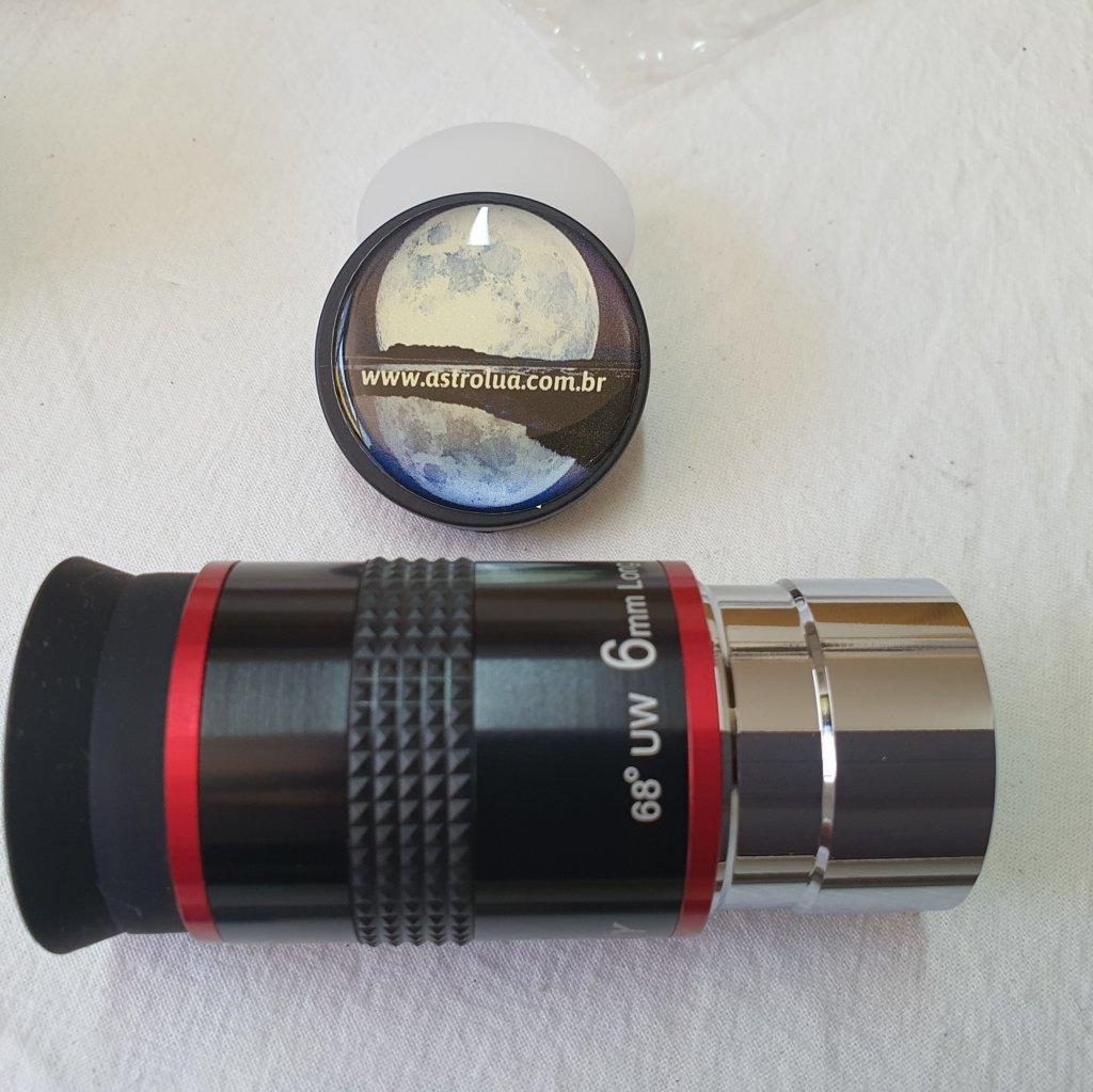 "Ocular 6mm - 1,25"" - Grande Angular 68º - 6 Elementos - Red Ring - ULTRA WIDE - SVBONY"