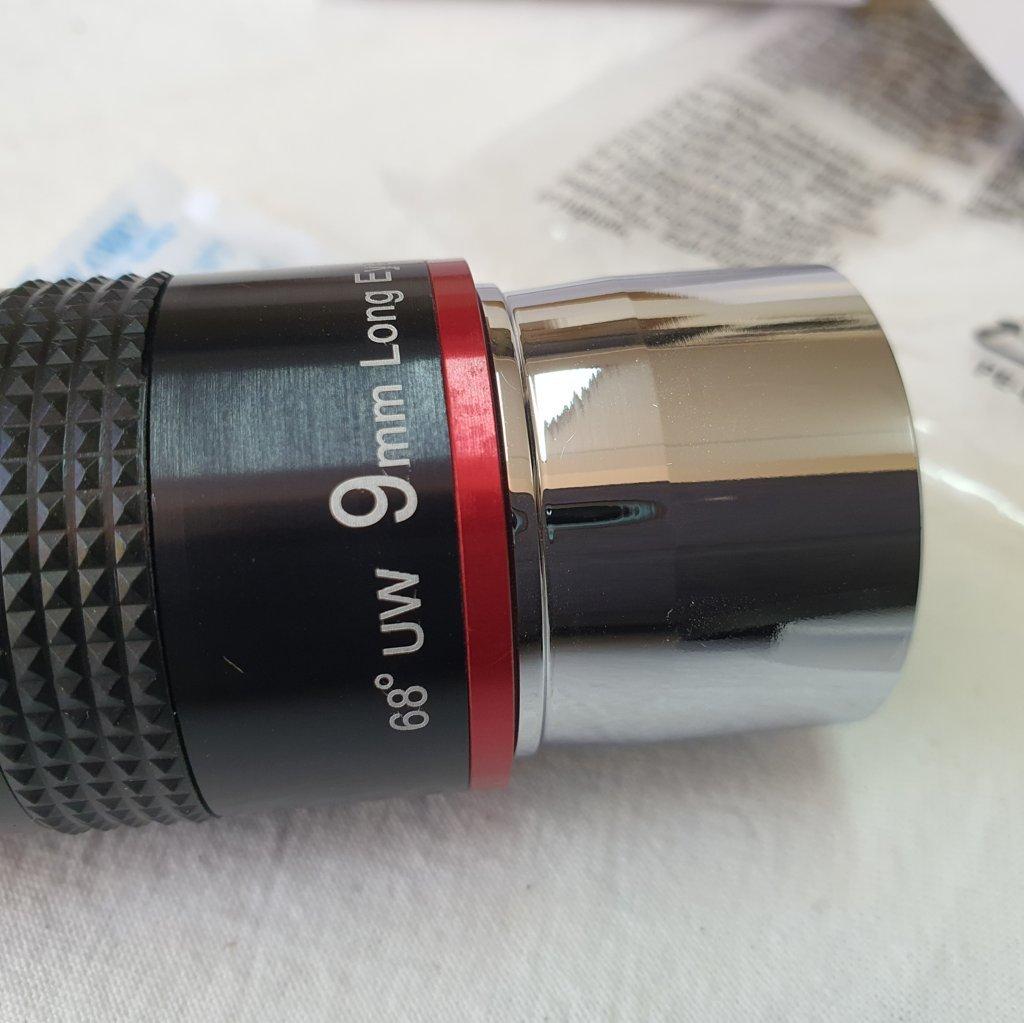 "Ocular 9mm - Grande Angular 68º - Ring Red - 6 Elementos - Ultra Wide - 1,25"" SVBONY"