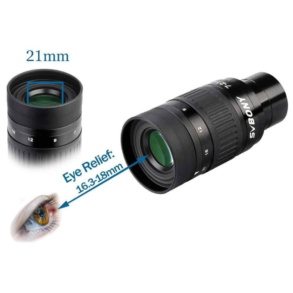 "Ocular Zoom 1,25"" de 7 a 21mm - Modelo SV135 - SVBONY"