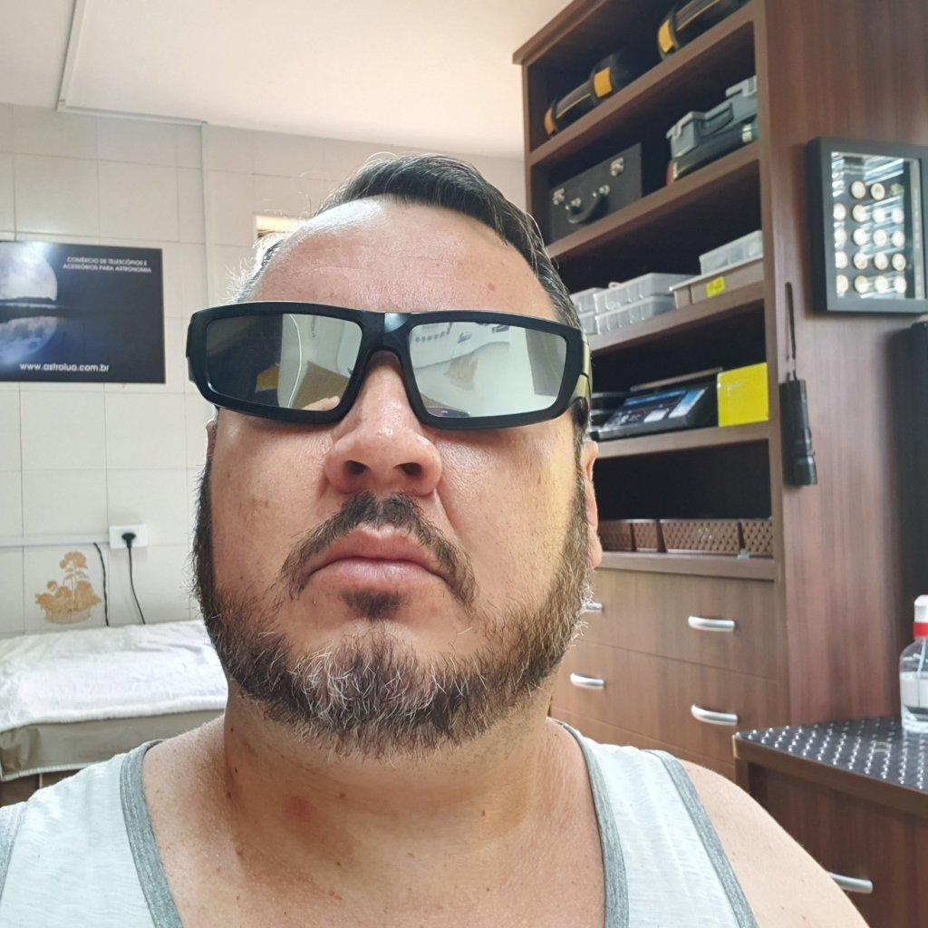 Óculos Para Observação SOLAR - Filtro Duplo - Frente Espelhada - ASTROLUA