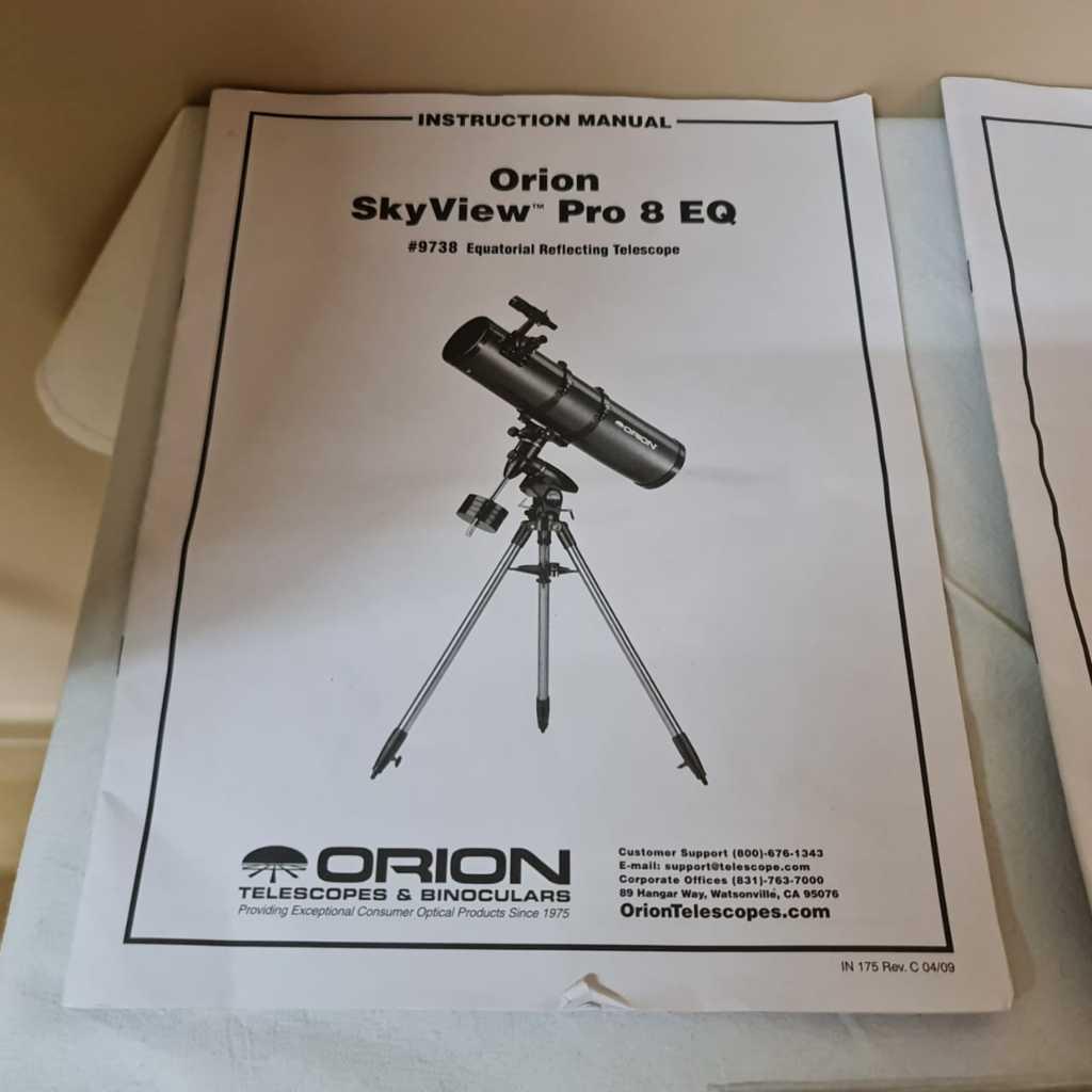 RIFA/SORTEIO R$60 - Telescópio 203mm f/4.9 Newtoniano + EQ Atlas GO TO/ST4 Computadorizada - ORION