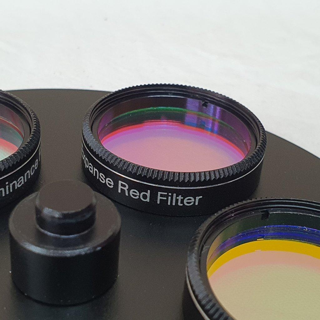 "Roda de Filtros 5 Slots Svbony 1,25"" + Set de 4 Filtros LRGB -  Astrofotografias EXPANSE"
