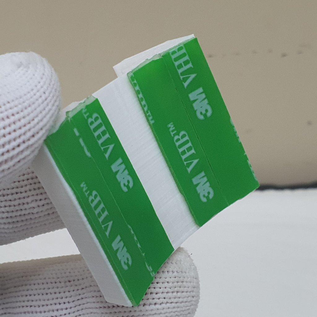 Sapata Cauda de Andorinha Branca 3D ABS c/ Dupla Face - ASTROLUA