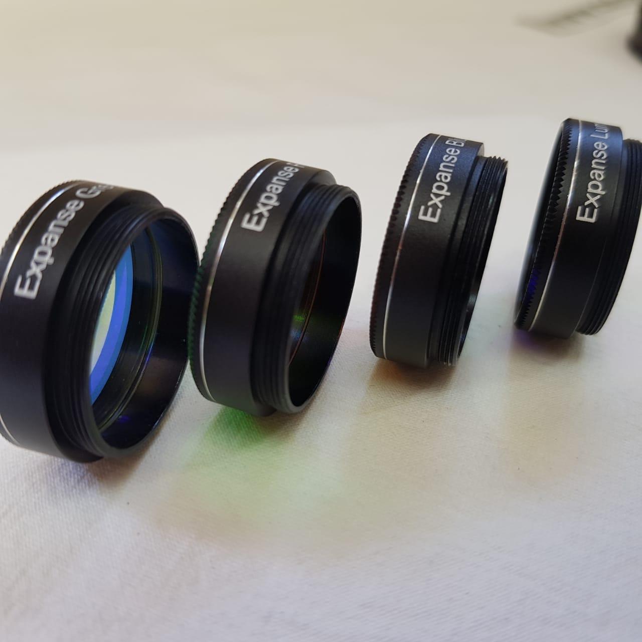 """SET de Filtros 1,25"""" - (QUADRA)  LRGB - Astrofotografias - EXPANSE"""