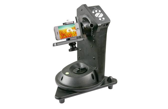 Suporte L Duplo com encaixe Vixen para Câmeras e Celulares em Montagens