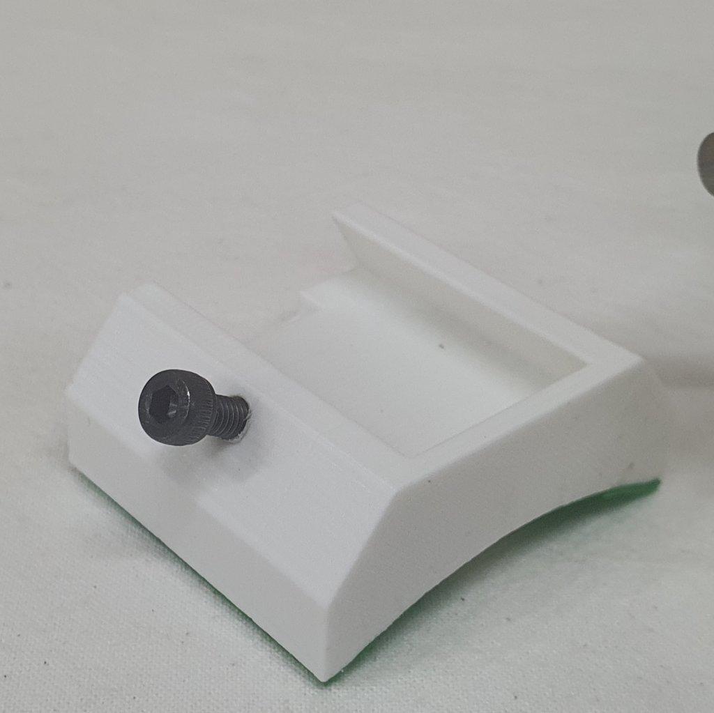 Suporte Laser Verde com Sapata 3M - White ABS 3D - ASTROLUA