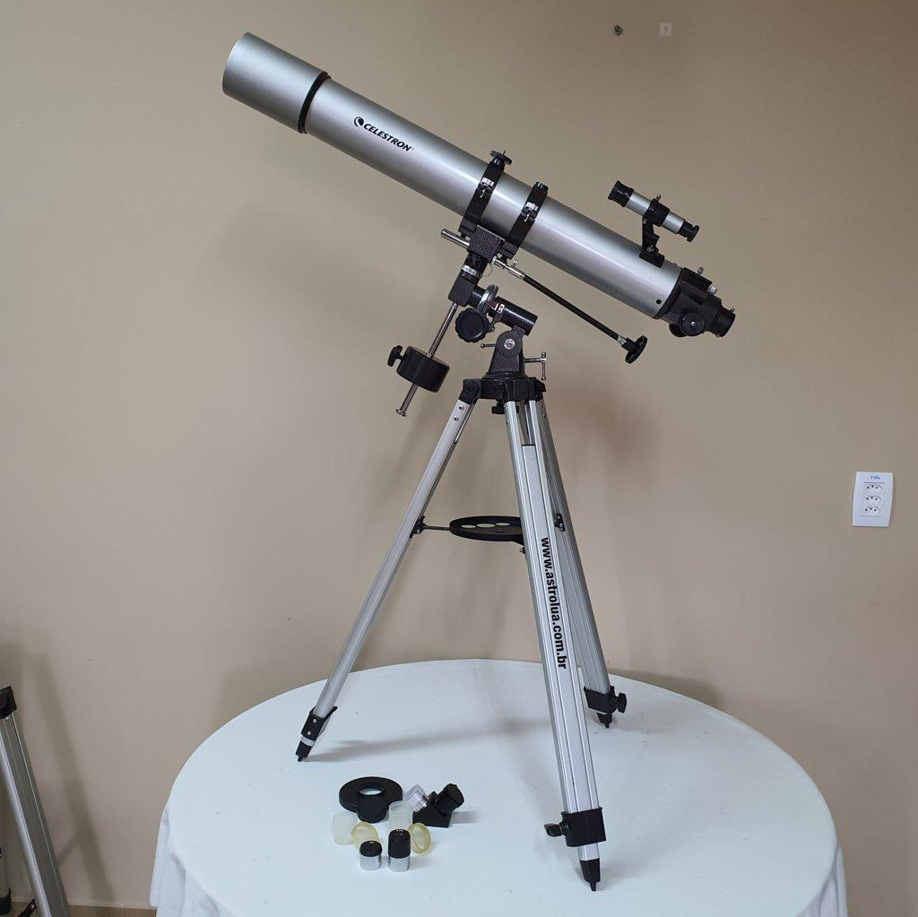 Telescópio 80mm f/11 Refrator Acromático Dubleto - Equatorial CELESTRON