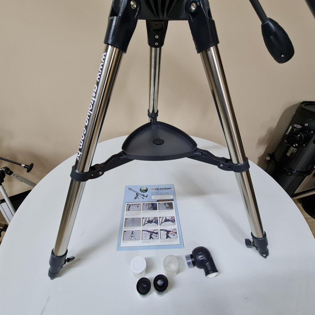 Telescópio 90mm f/11.1 Refrator Dubleto Acromático - AZ - CELESTRON