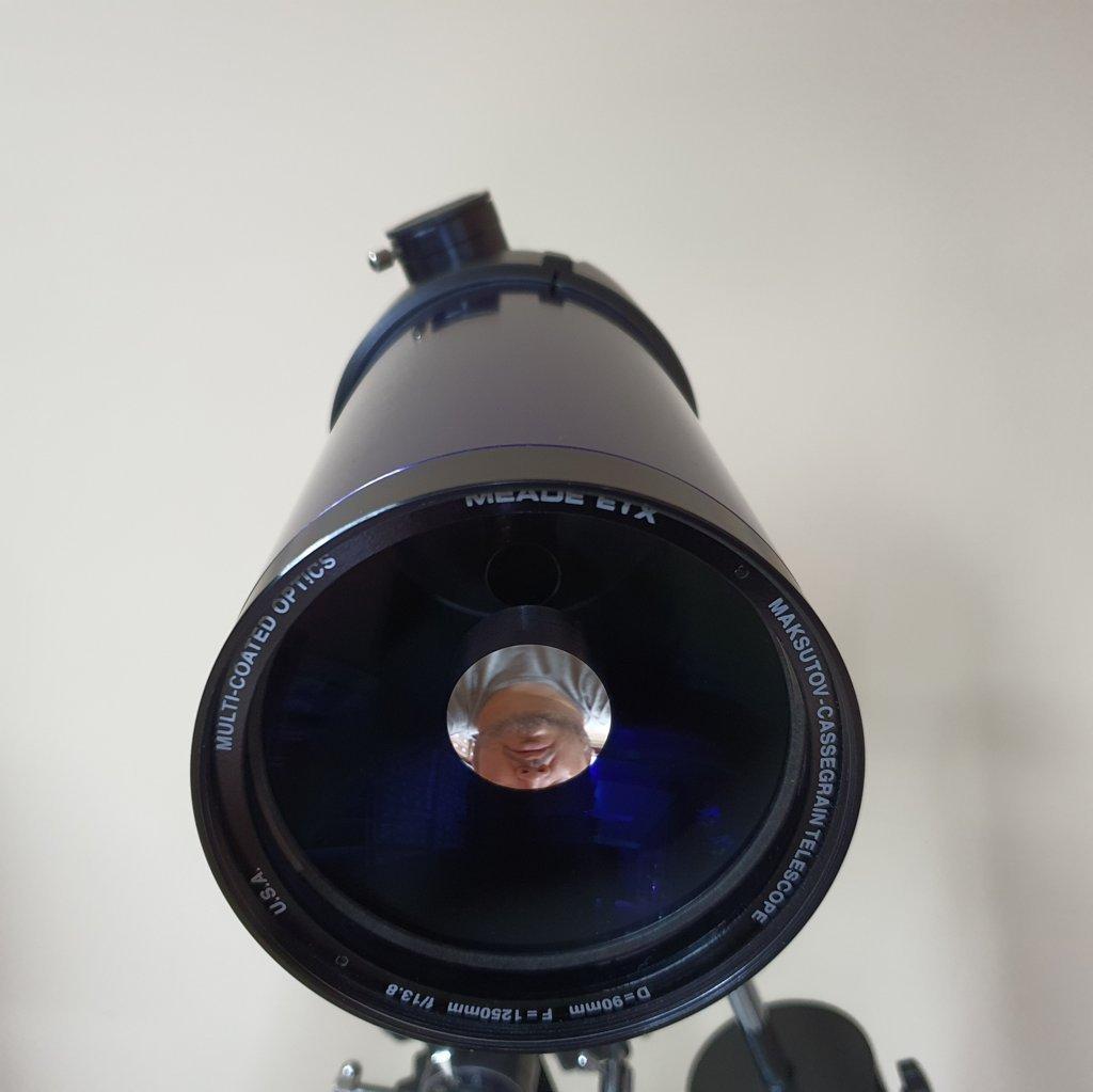 Telescópio 90mm f/13.8 Maksutov Cassegrain Equatorial - MEADE