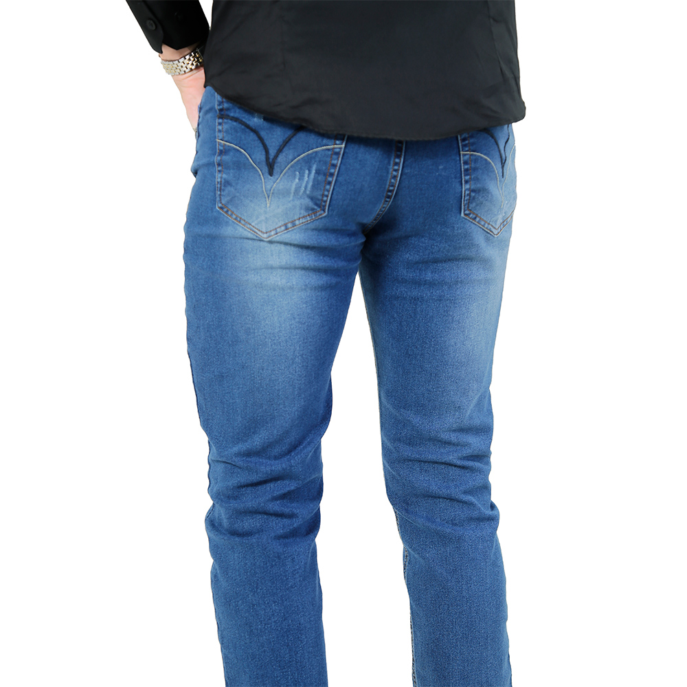 Calça Jeans Slim Fit Azul Médio - Live the Life