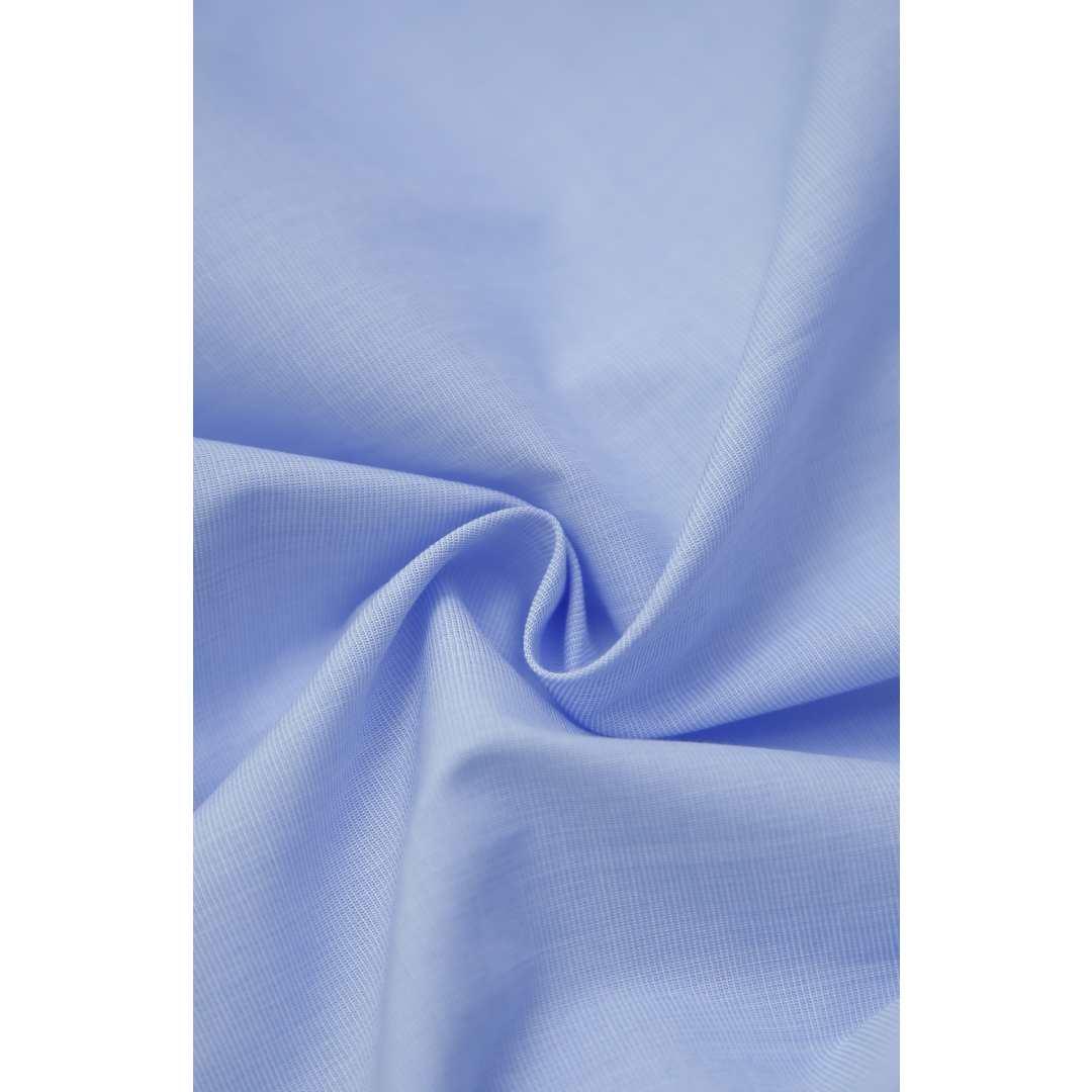 Camisa Masculina Live the Life Manga Curta Slim Fit Fioa Fio Azul Claro