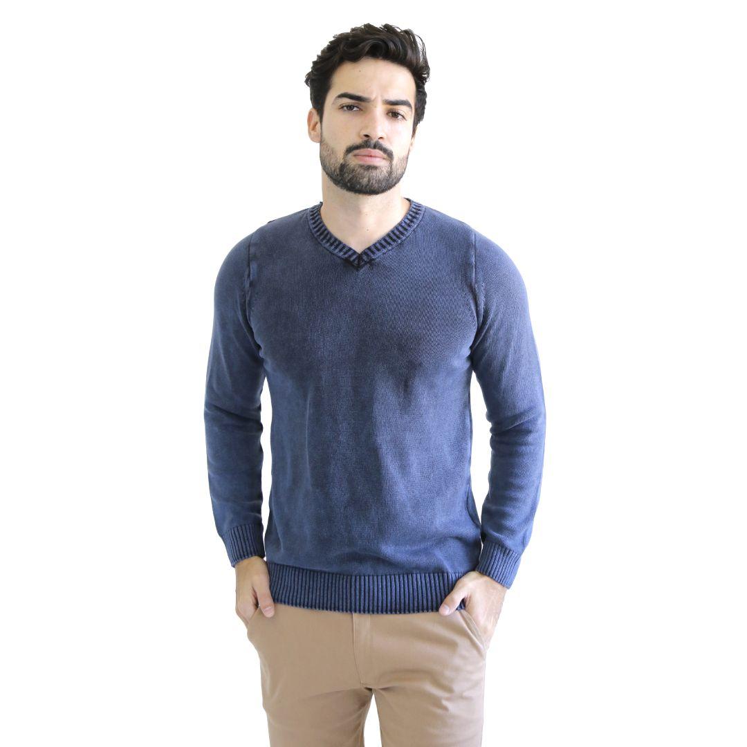 Suéter Tricot de Algodão Marinho - Live the Life
