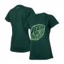 Camiseta DTG Fem. JEEP 80th Anniversary Leaf - Verde Militar