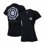 Camiseta DTG Fem. JEEP Compass Back Heptagon - Preta