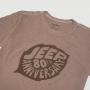Camiseta Fem. JEEP 80th Anniversary Leaf Estonada - Marrom