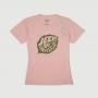 Camiseta Fem. JEEP 80th Anniversary Leaf Estonada - Rosa Claro