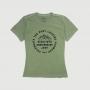 Camiseta Fem. JEEP 80th Anniversary Round Estonada - Verde Militar