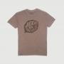 Camiseta JEEP - 80th Anniversary - Leaf - Lavada Estonada Marrom