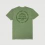 Camiseta Masc. JEEP 80th Anniversary Round Estonada - Verde Militar