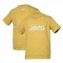 Camiseta Super Premium Inf. JEEP Logo Camuflado Estonada - Areia