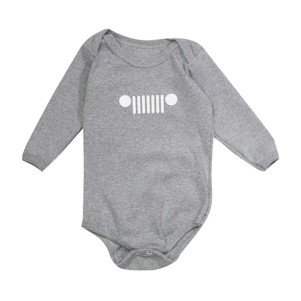 Body Bebê JEEP Grade Cinza Mescla
