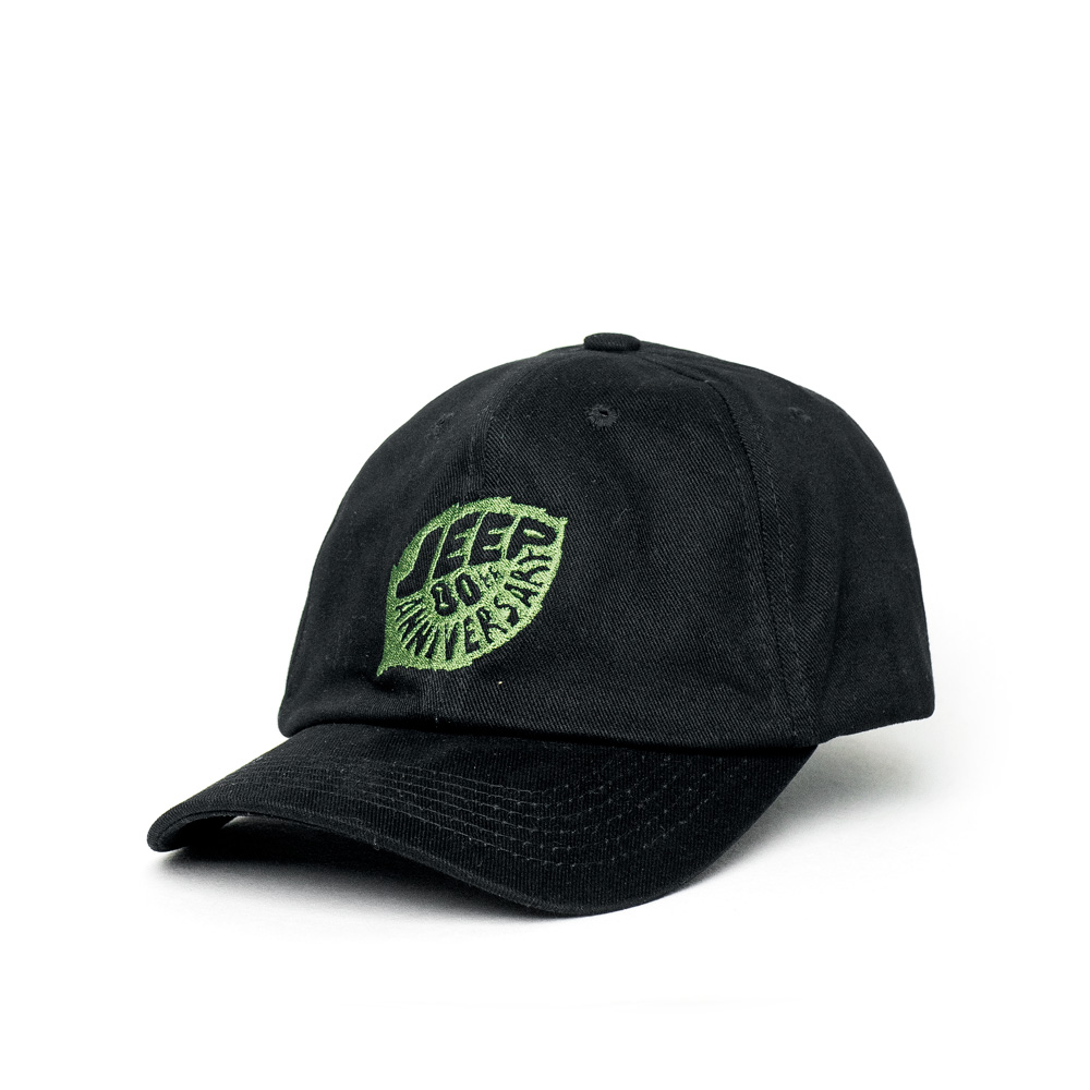 Boné Dad Hat JEEP 80th Anniversary Leaf - Preto