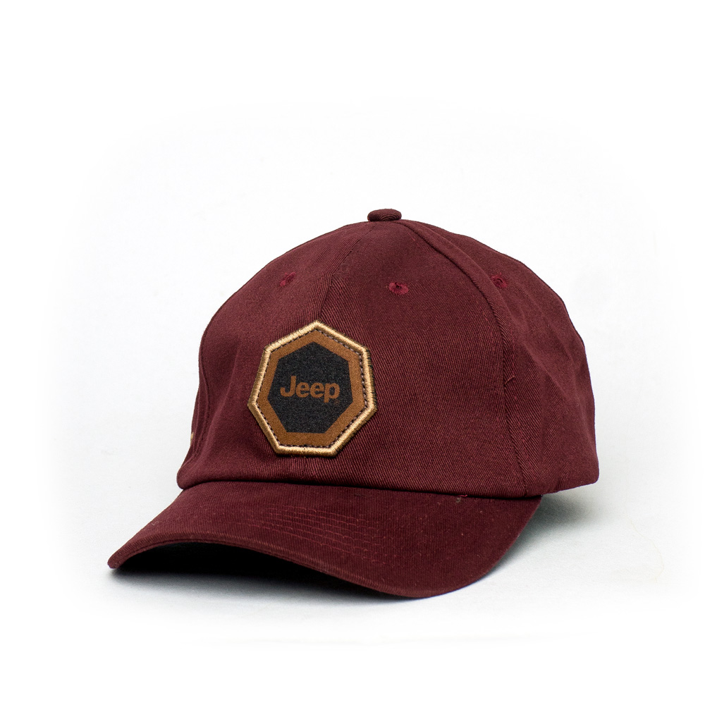 Boné Dad Hat JEEP Compass Heptagon Patch - Vinho