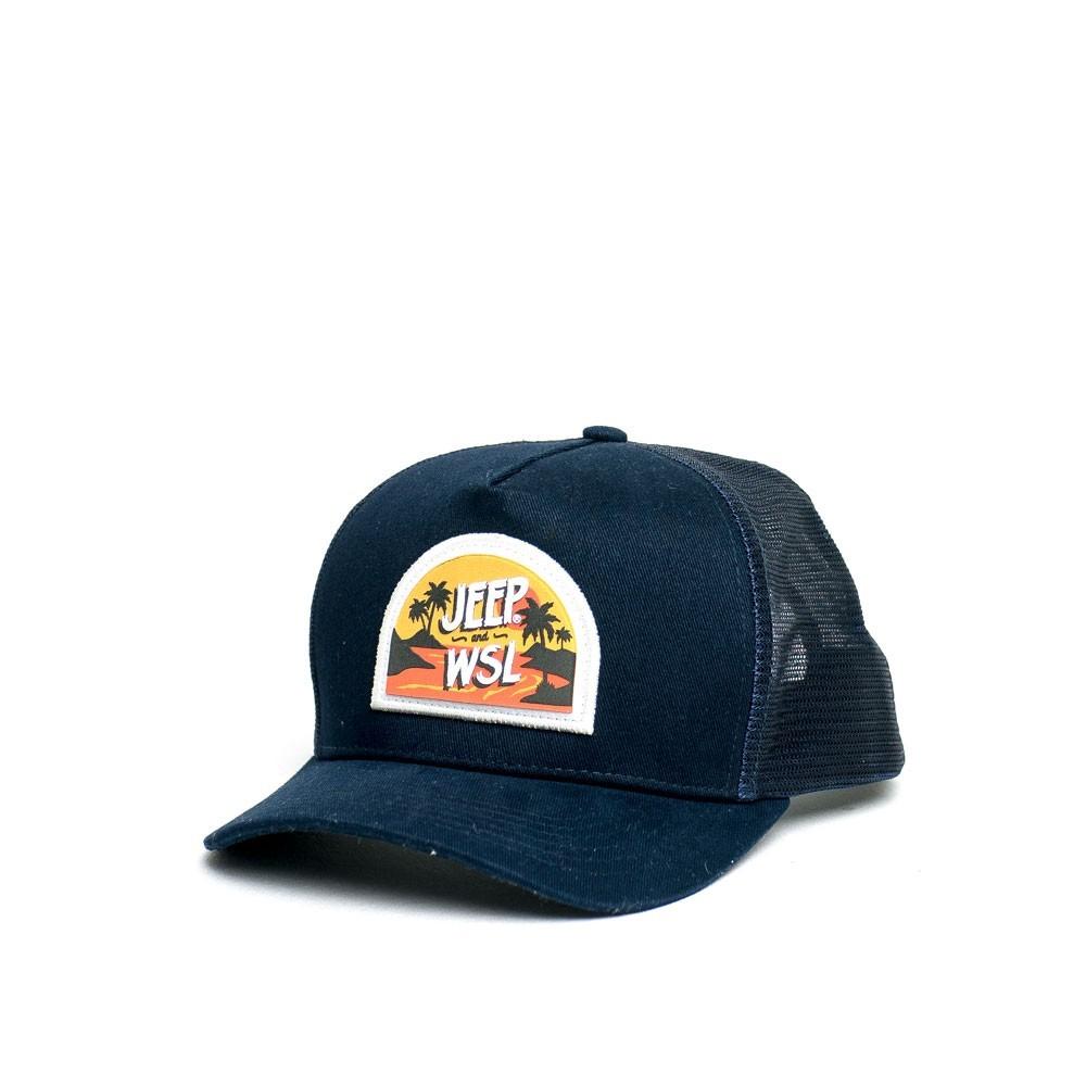 Boné JEEP e WSL Trucker Island Sunset - Azul Marinho