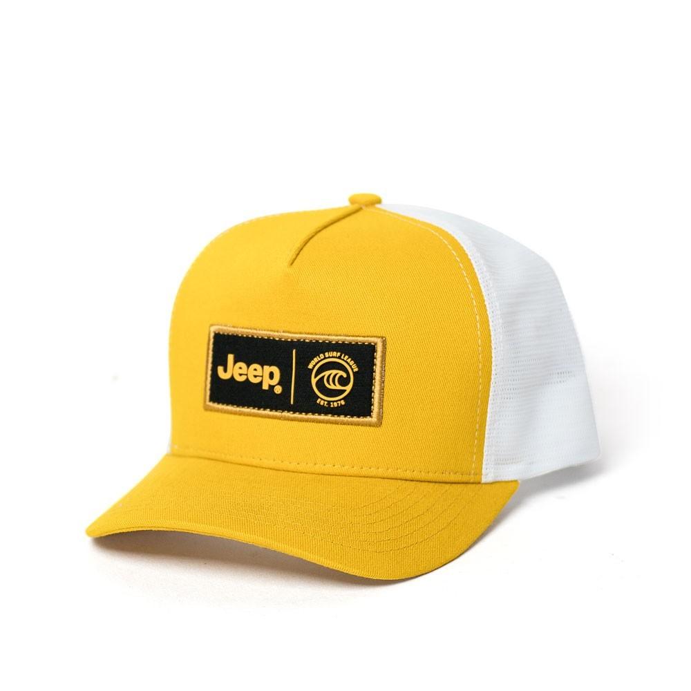 Boné JEEP e WSL Trucker - Amarelo / Branco
