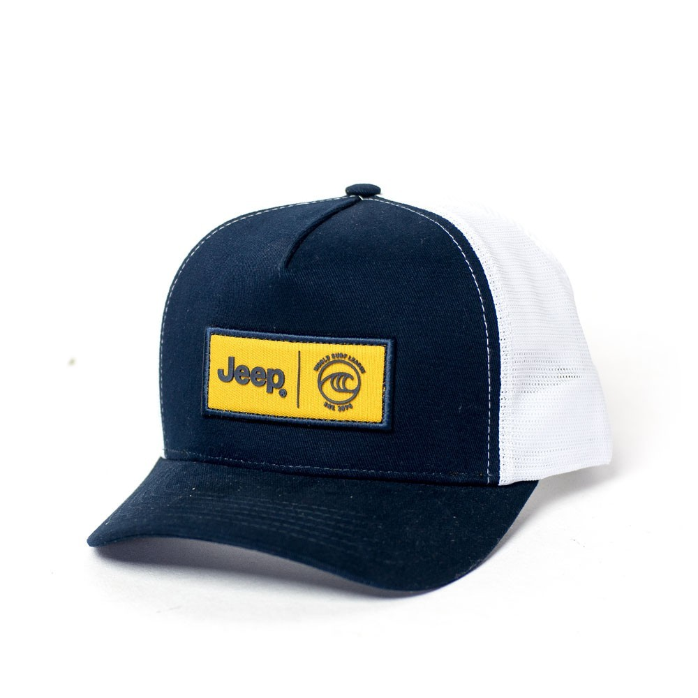 Boné JEEP e WSL Trucker - Azul / Branco
