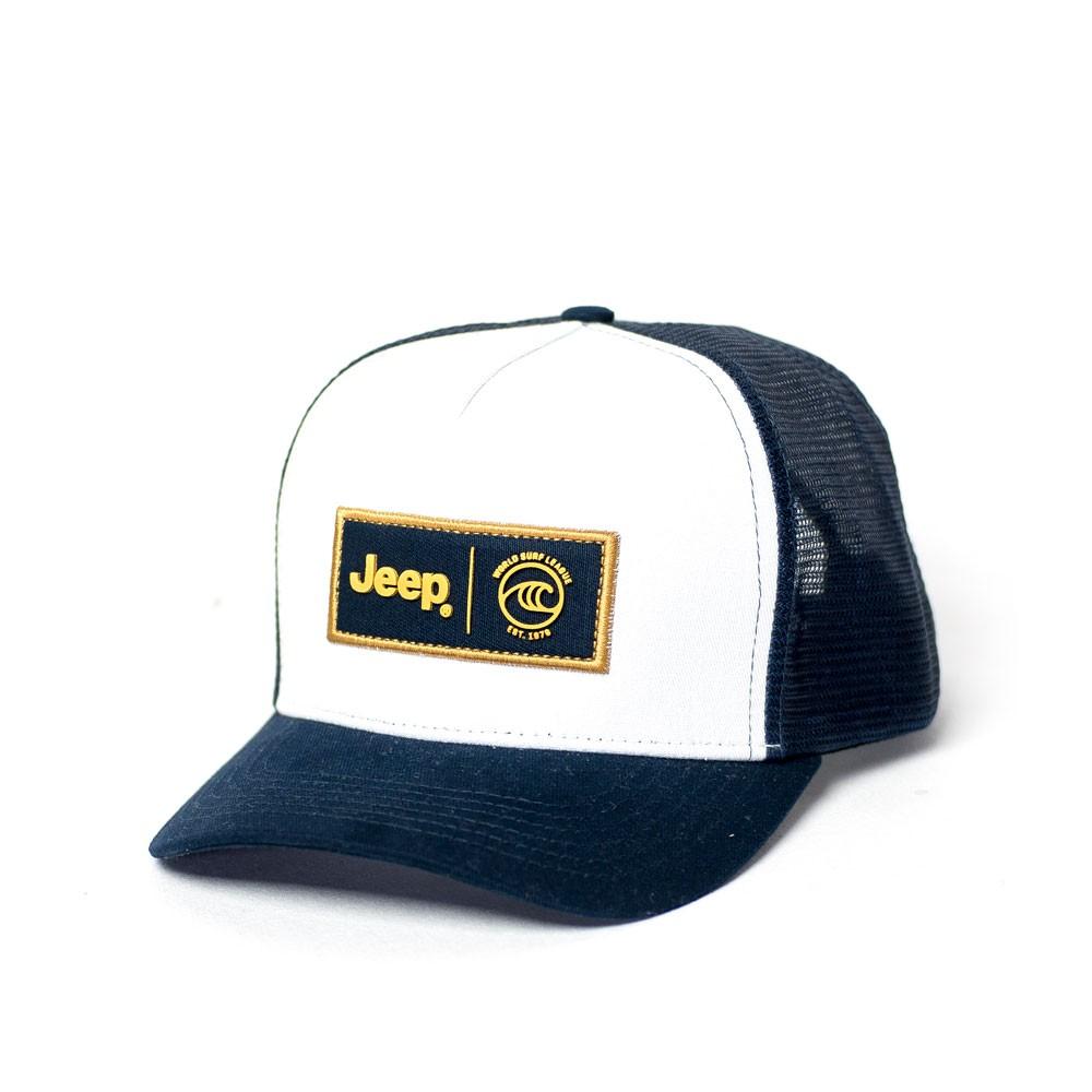 Boné JEEP e WSL Trucker - Branco / Azul