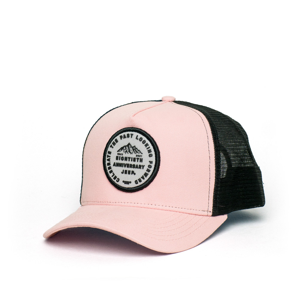 Boné Trucker JEEP 80th Anniversary Patch - Rosa