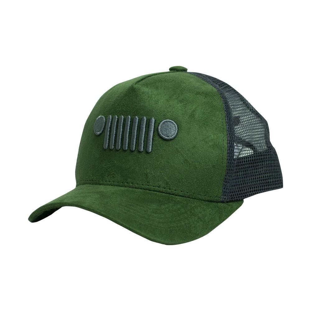 Boné Trucker JEEP Grade Suede - Verde Militar