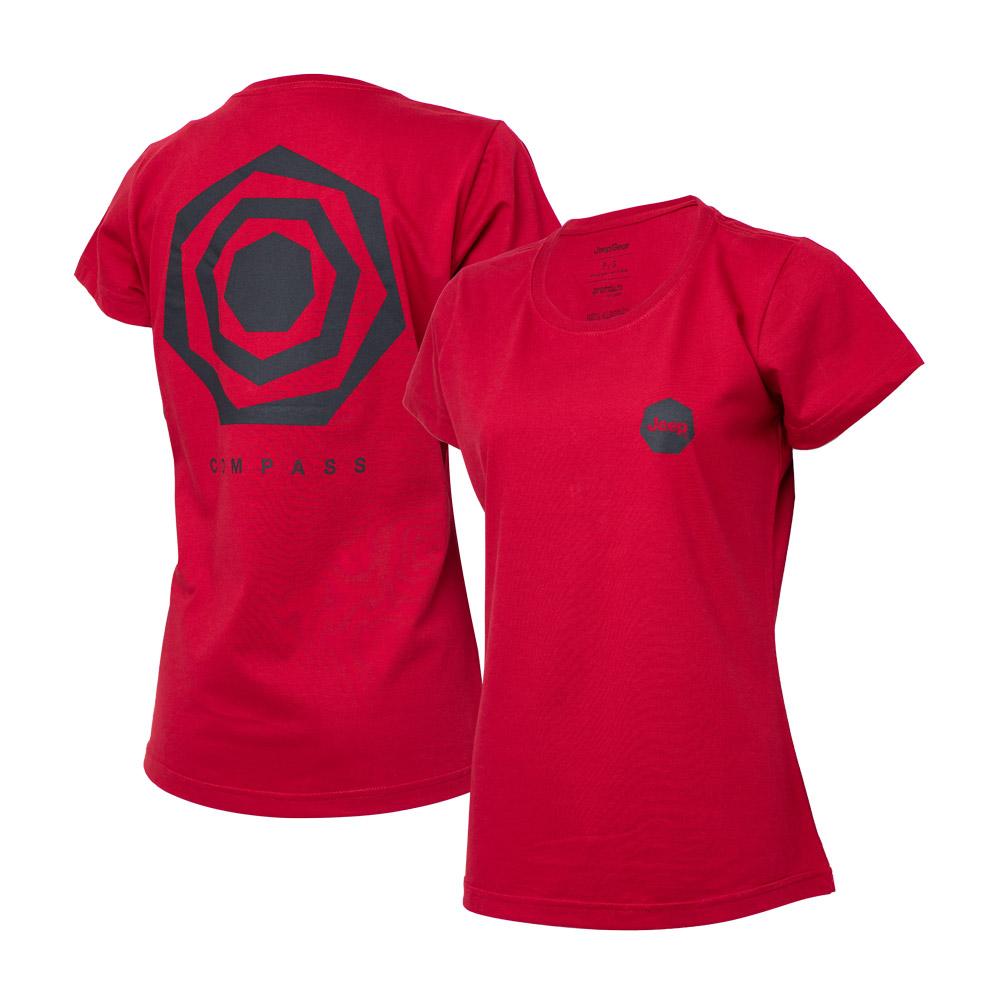Camiseta DTG Fem. JEEP Compass Back Heptagon - Vermelha