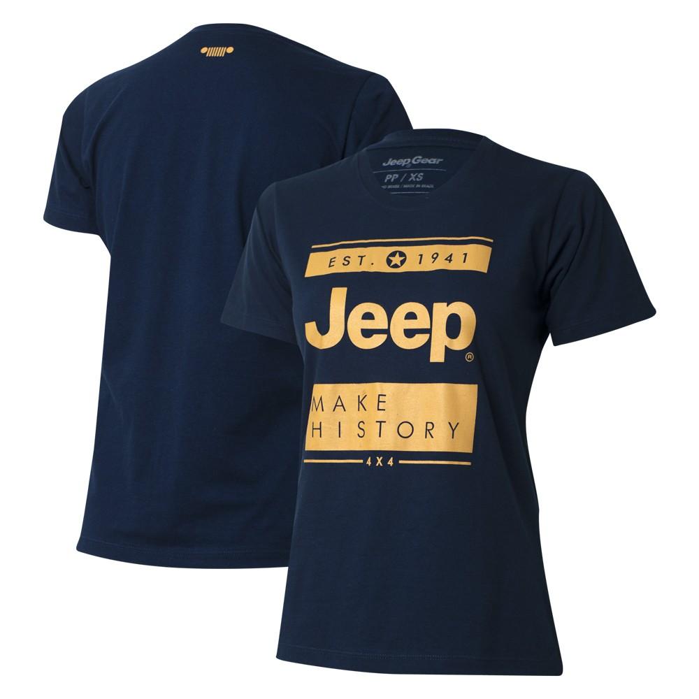 Camiseta Especial Fem. JEEP Block Azul Marinho