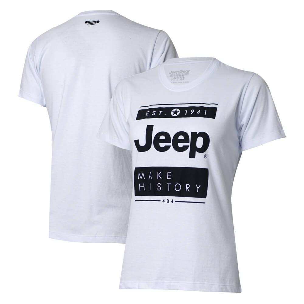 Camiseta Especial Fem. JEEP  Block  Branca