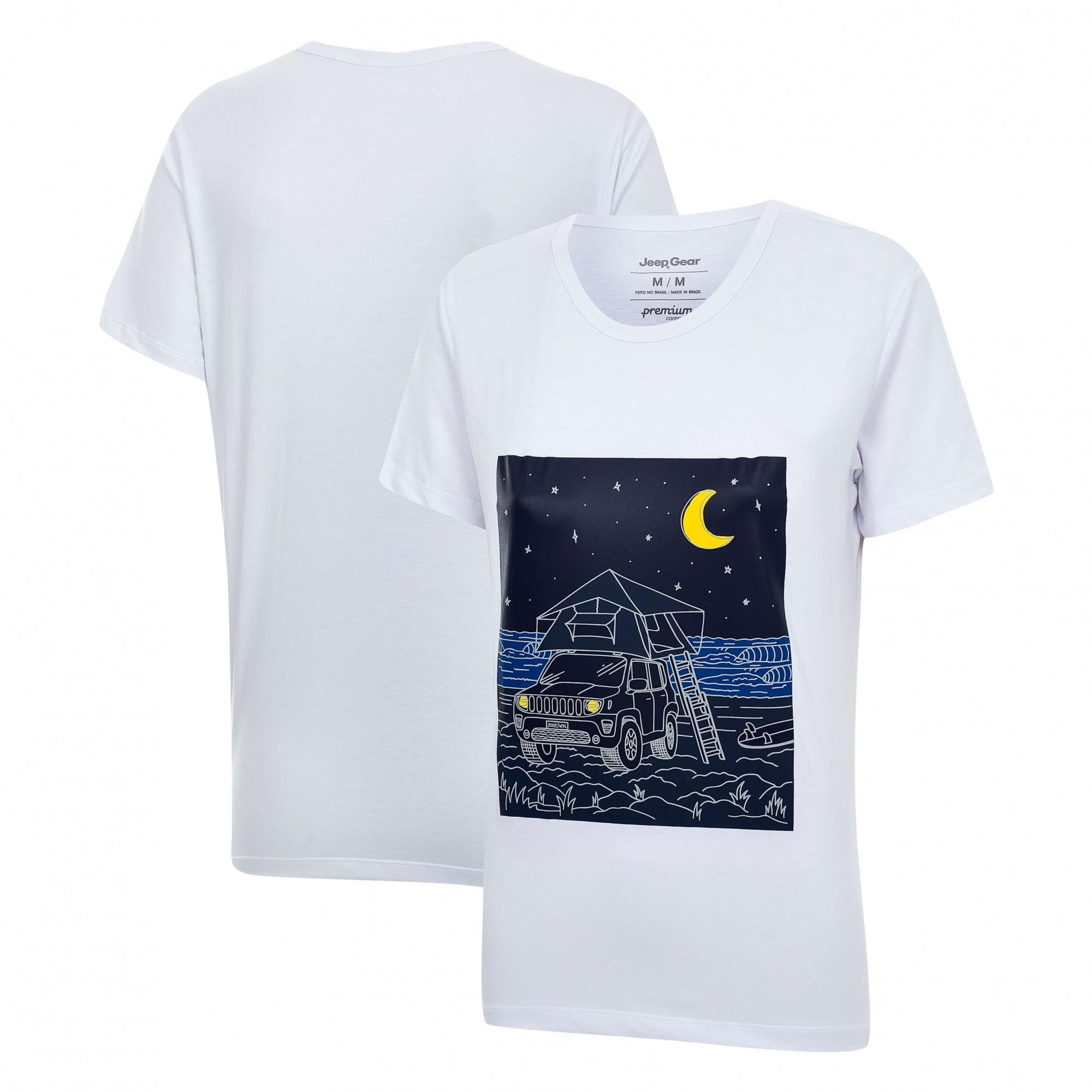 Camiseta Fem. JEEP e WSL Renegade Camping - Branca