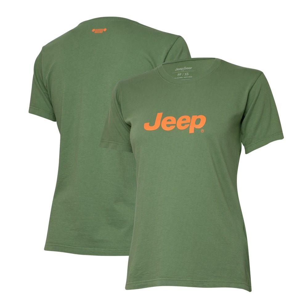 Camiseta Especial Fem. JEEP  Logo  Verde
