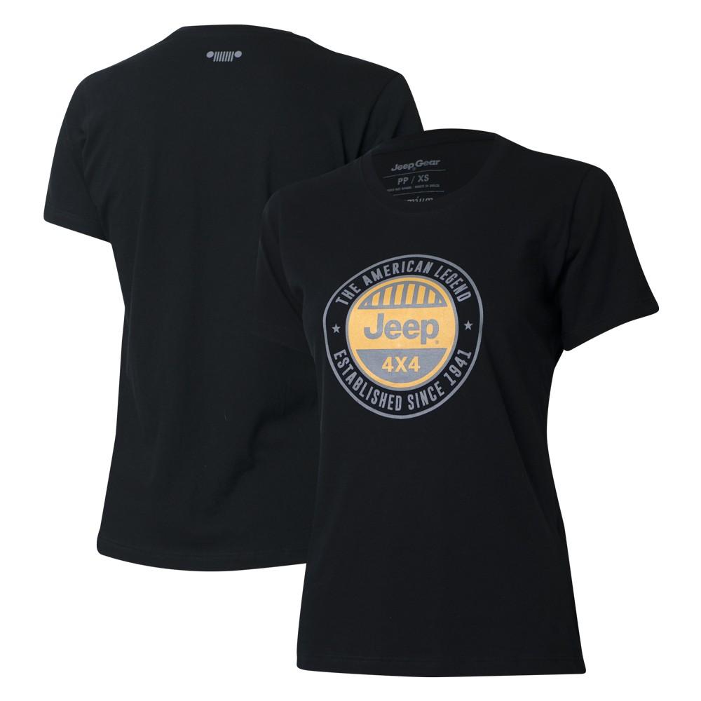 Camiseta Especial Fem. JEEP  Round  Preta