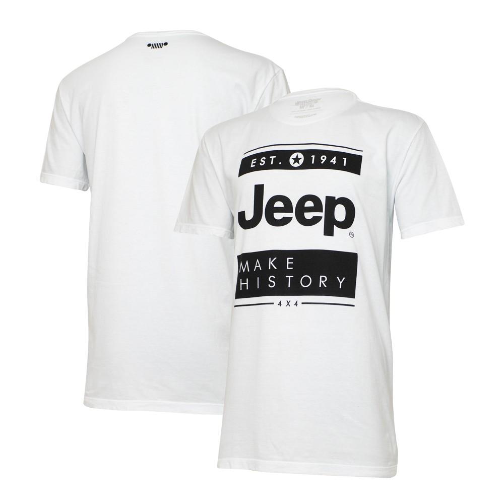 Camiseta Especial JEEP  Block  Branca