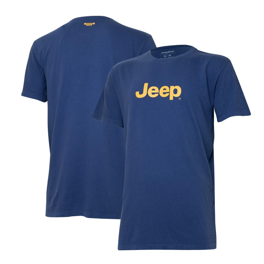 Camiseta Especial JEEP  Logo  Azul Marinho