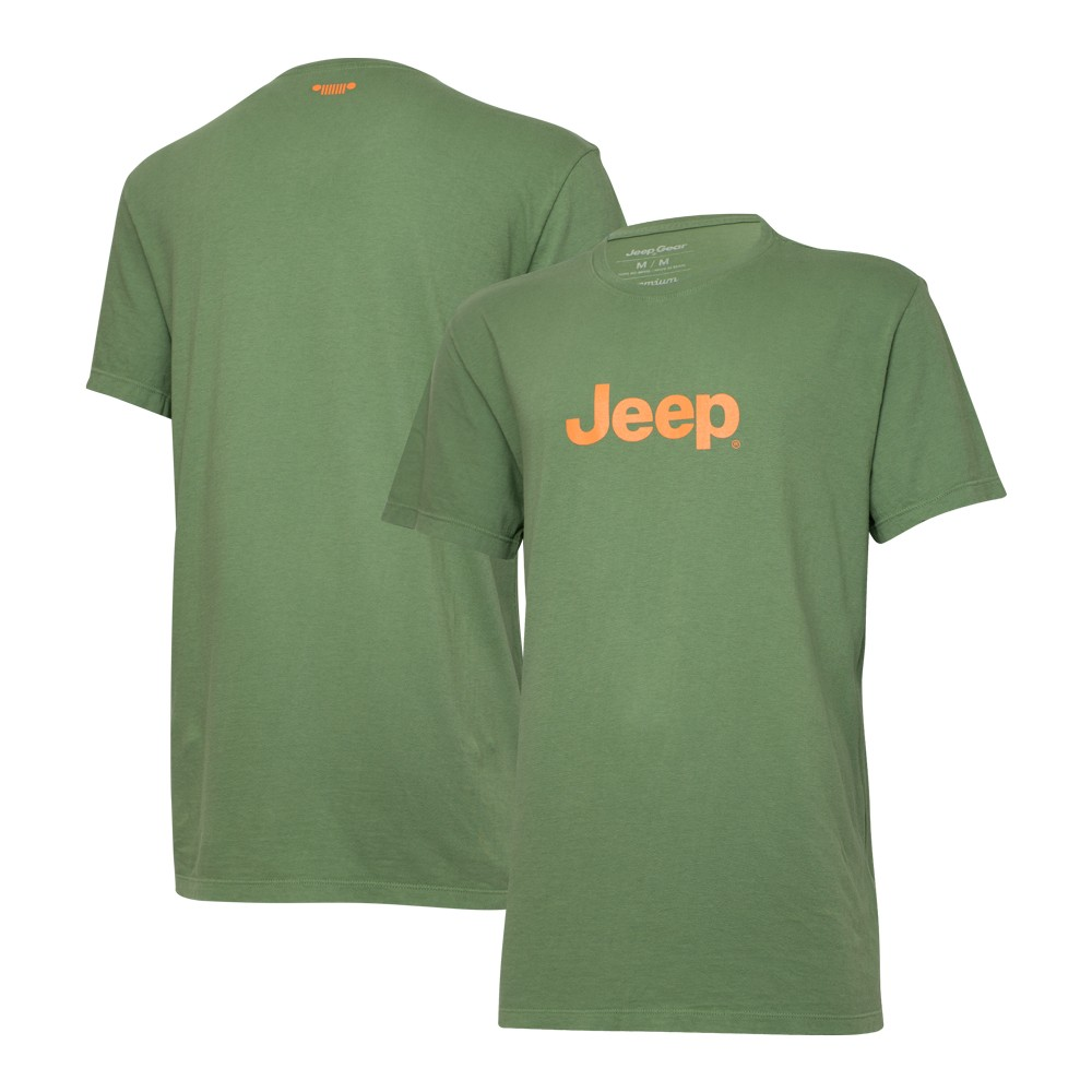 Camiseta Especial JEEP Logo Verde