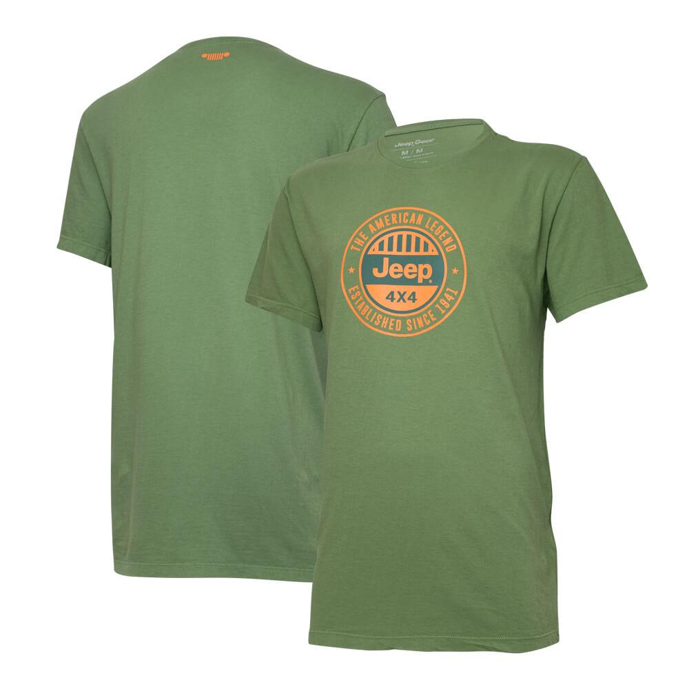 Camiseta Especial JEEP  Round  Verde Militar