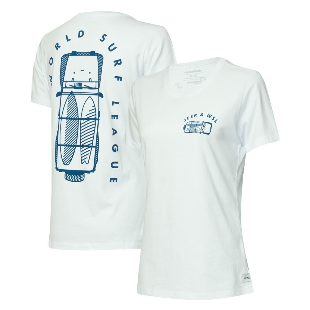 Camiseta Fem. Especial JEEP e WSL Wrangler Trip - Branca