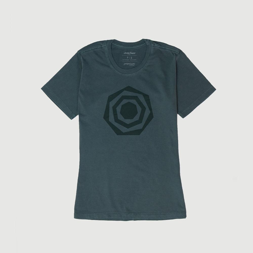 Camiseta Fem. JEEP Compass Heptagon Lavada Estonada - Verde