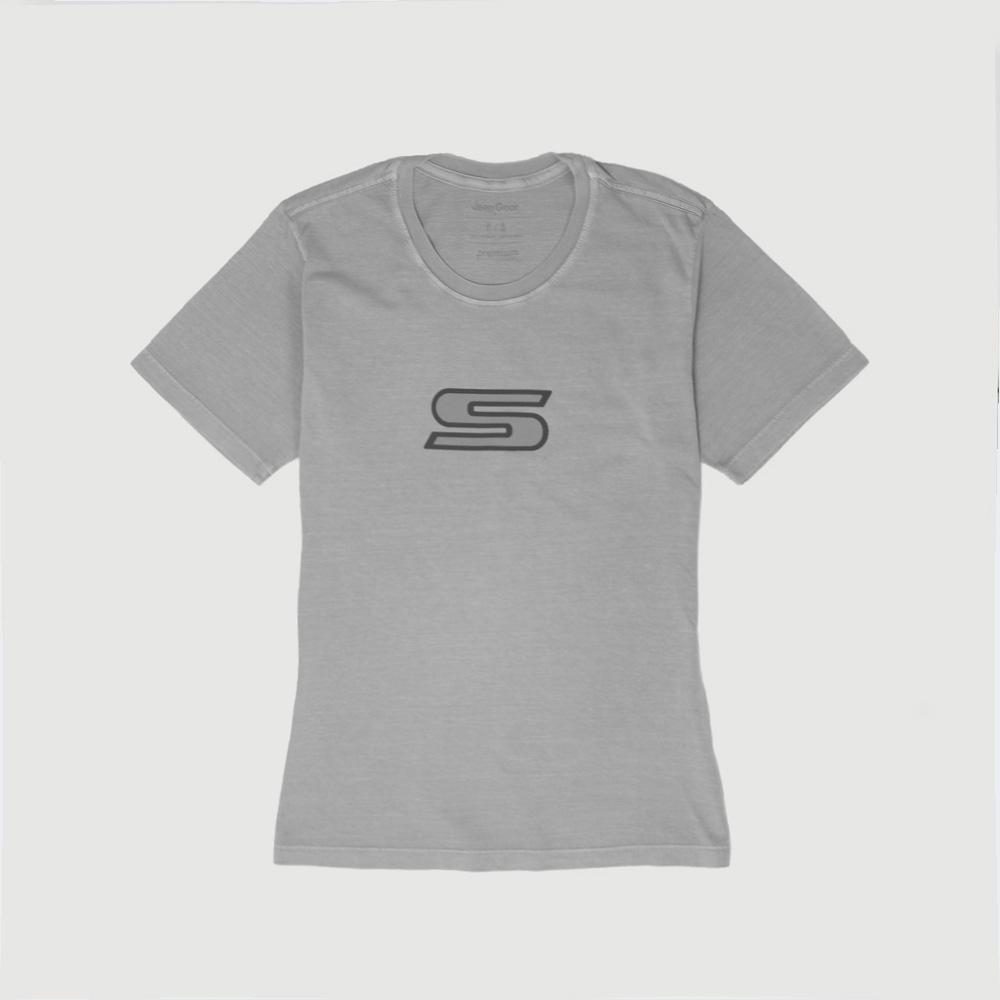 Camiseta Fem. JEEP Compass Series S Lavada Estonada - Cinza Claro