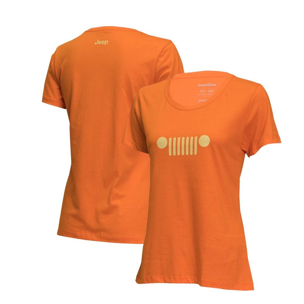 Camiseta Fem. JEEP - Grade - Laranja